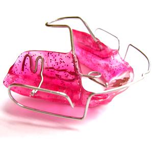 zahnspange pink
